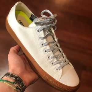 Converse White and Wheat Lowtop